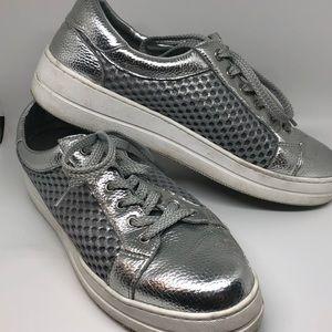 Steve Madden silver sneakers